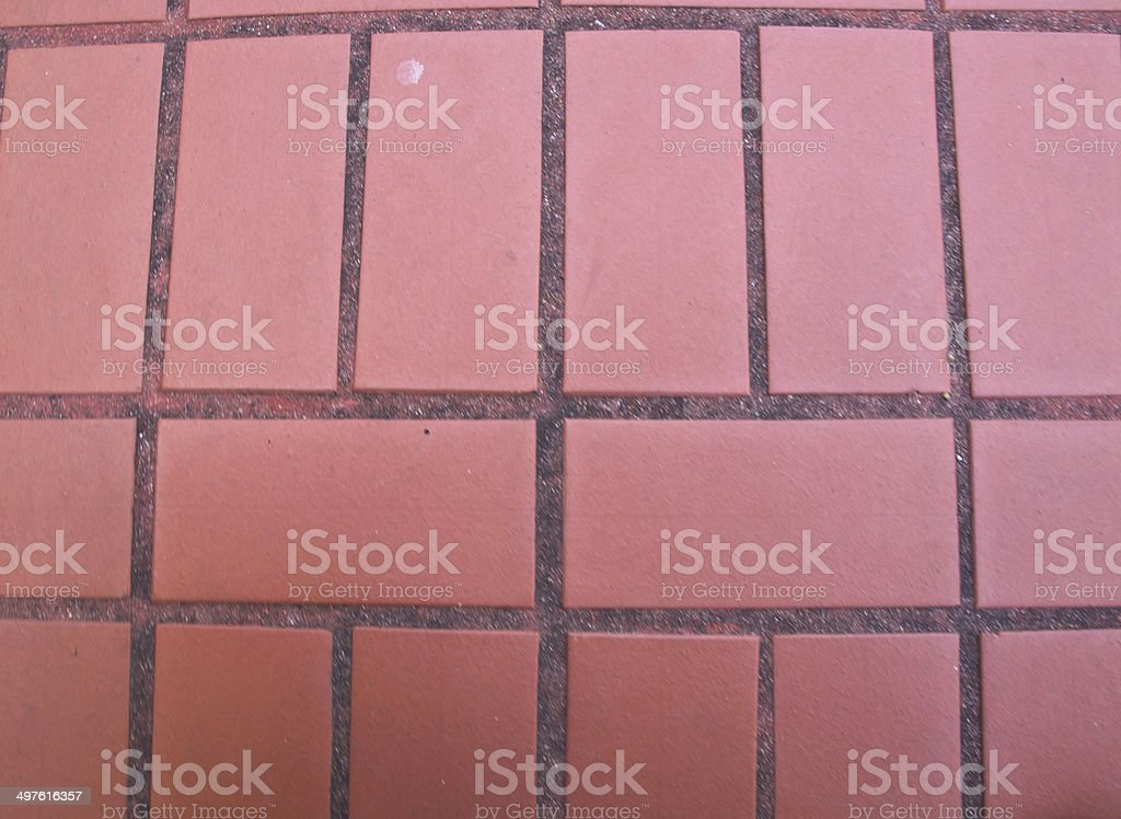 Red block pavement as background royalty-free stock photo
