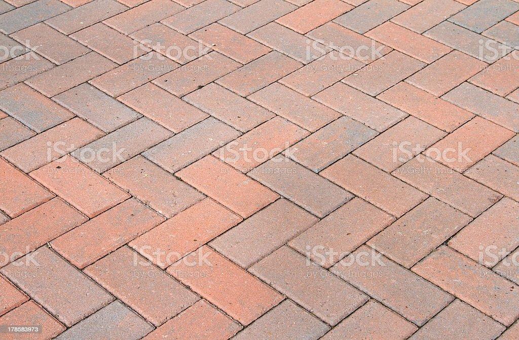 Red block pavior driveway stock photo