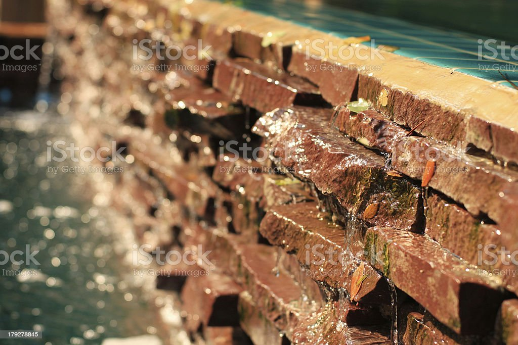 Red Block Running Water royalty-free stock photo