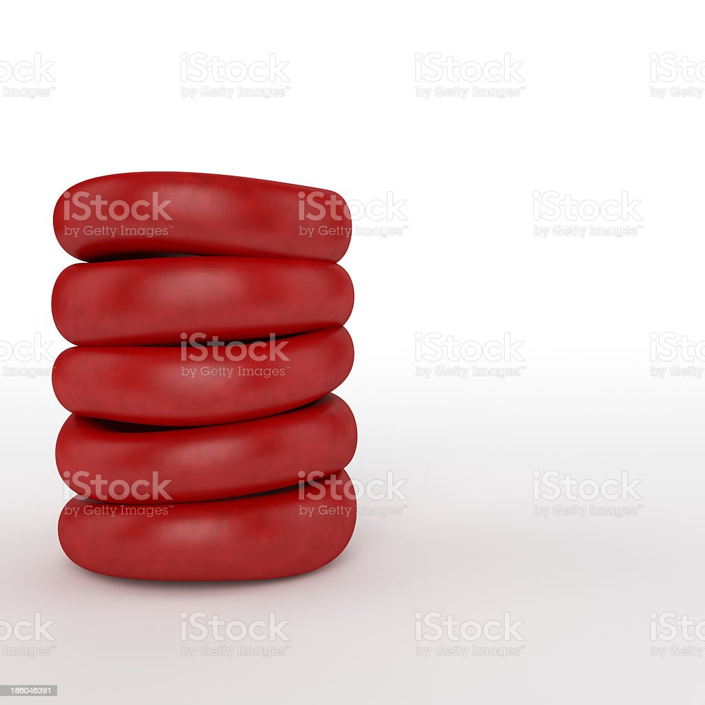 Red blood cells pile royalty-free stock photo