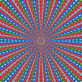 red blue and green line drawing abstract background