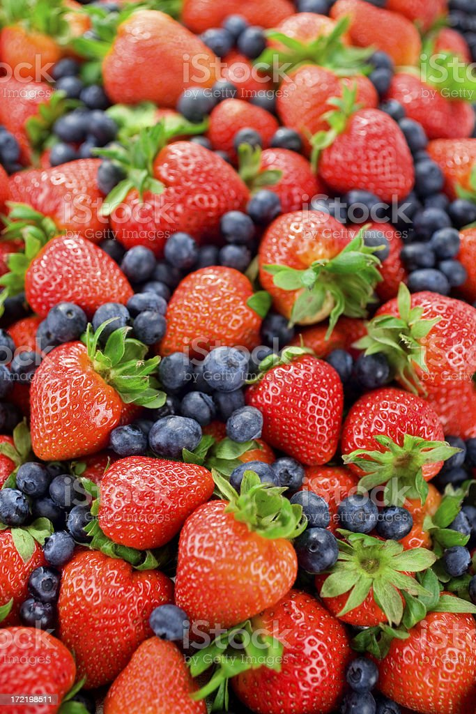Red & Blue Berries royalty-free stock photo