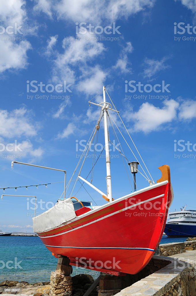Red Boat stock photo