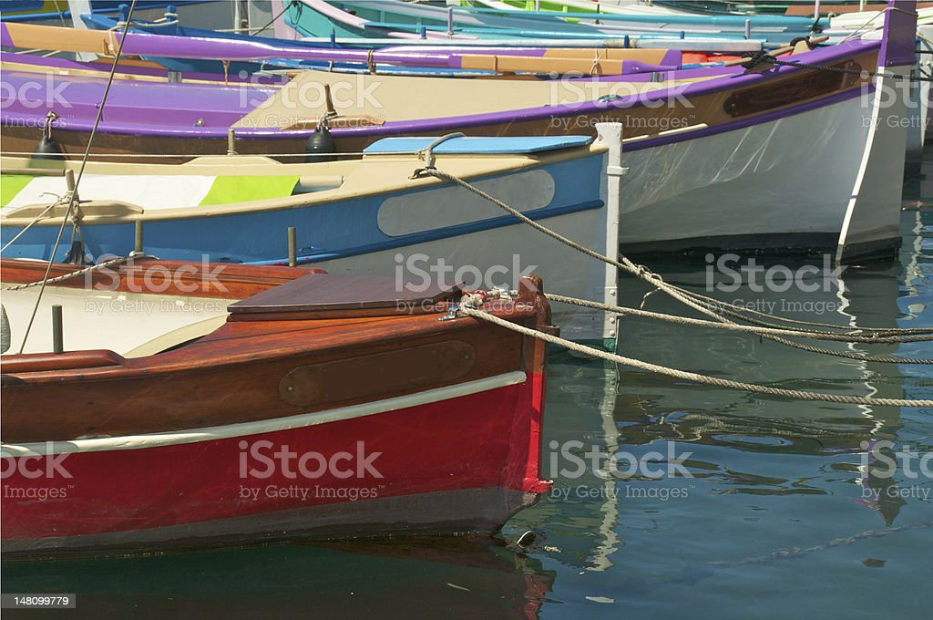 Red boat with no Signage royalty-free stock photo