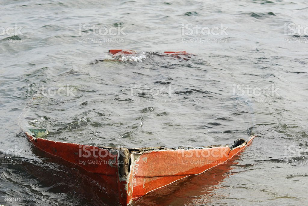 Red Boat Wreck royalty-free stock photo