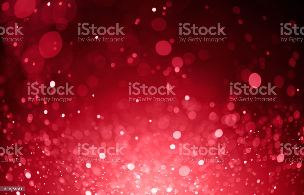 red bokeh lights background stock photo