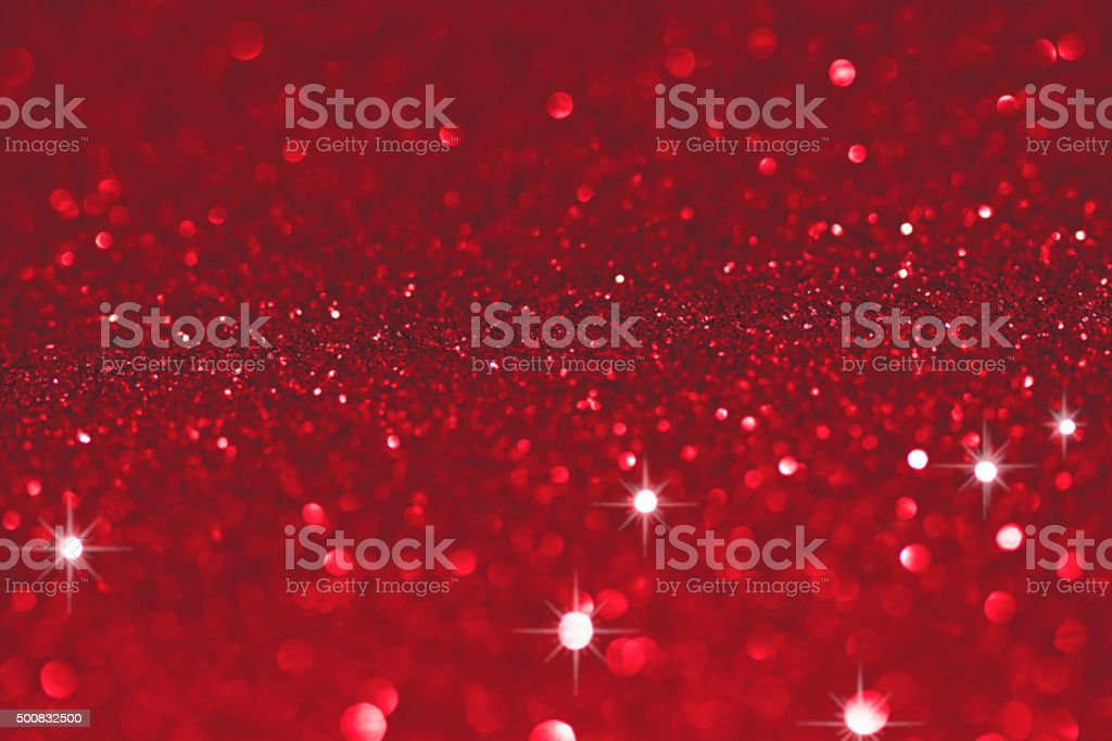 Red bokeh lights stock photo
