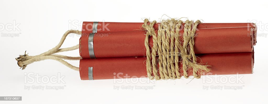 Red Bomb stock photo