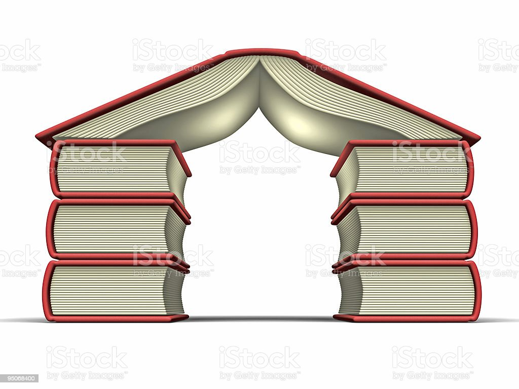 red book house stock photo