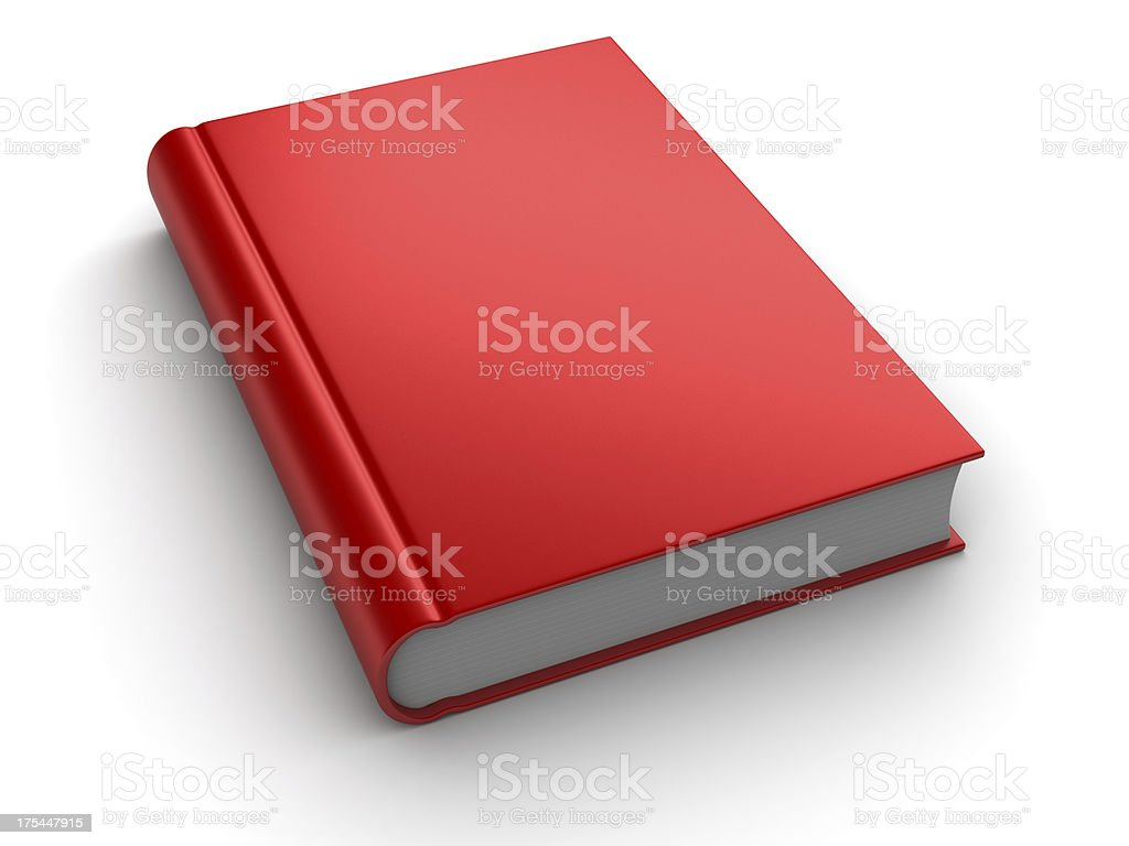3D red book isolated on white background royalty-free stock photo