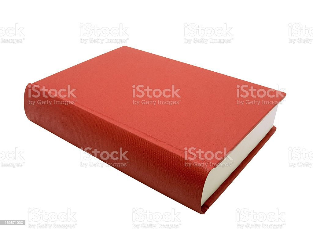 Red Book, isolated on white stock photo