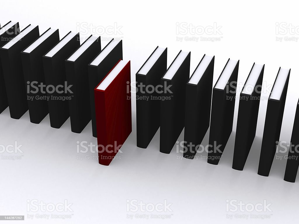 red book stands out royalty-free stock photo