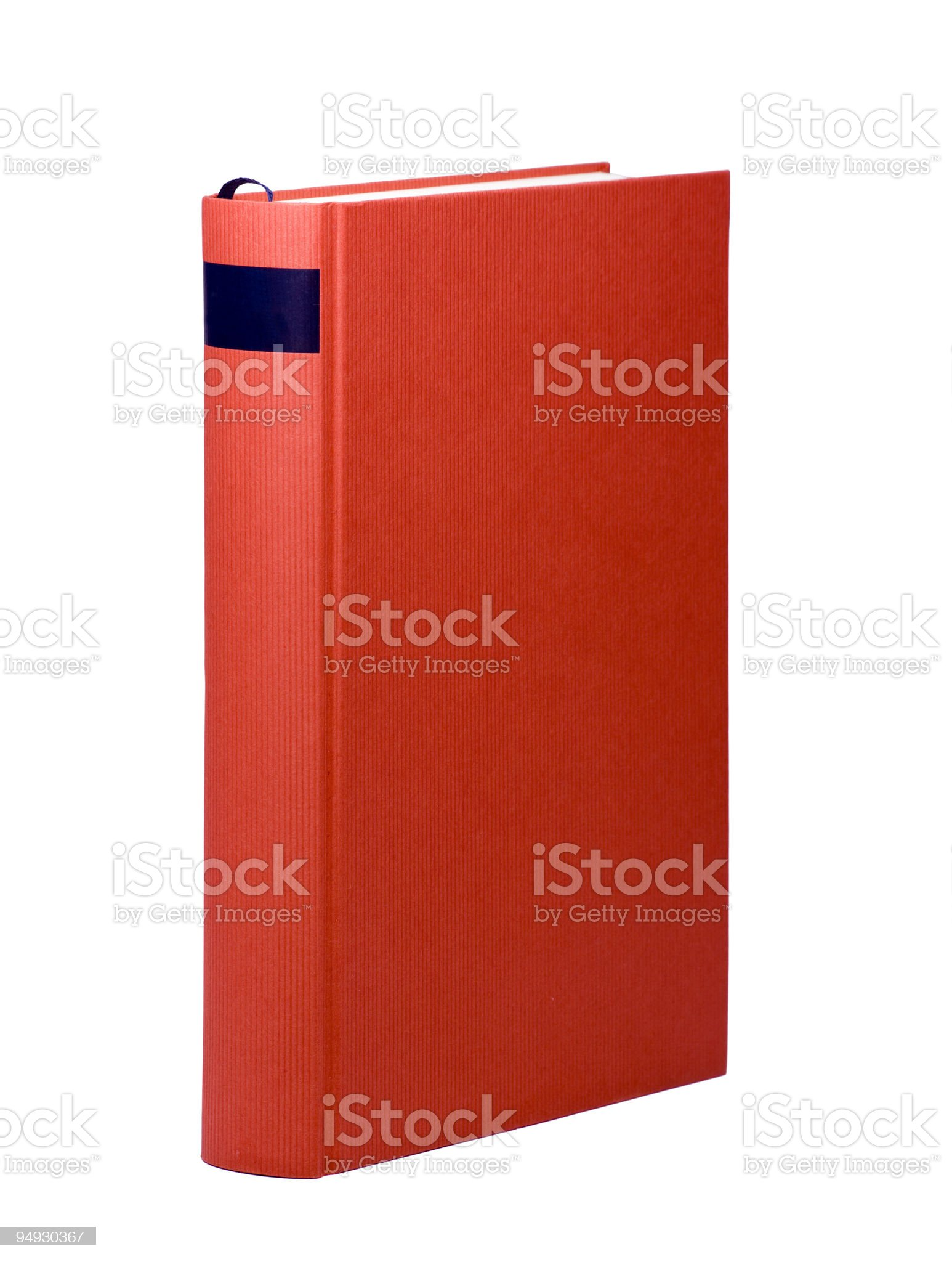 red book with blank cover royalty-free stock photo