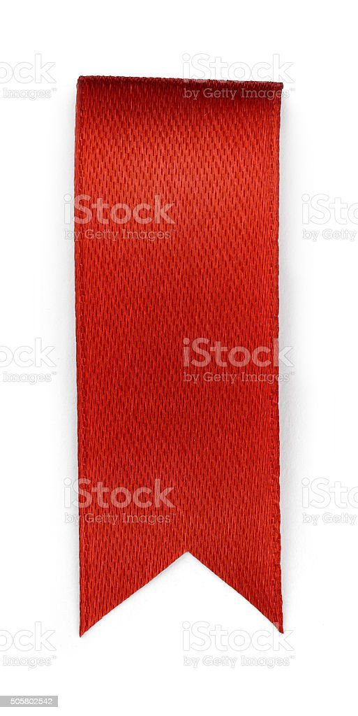 Red bookmark isolated on white background stock photo