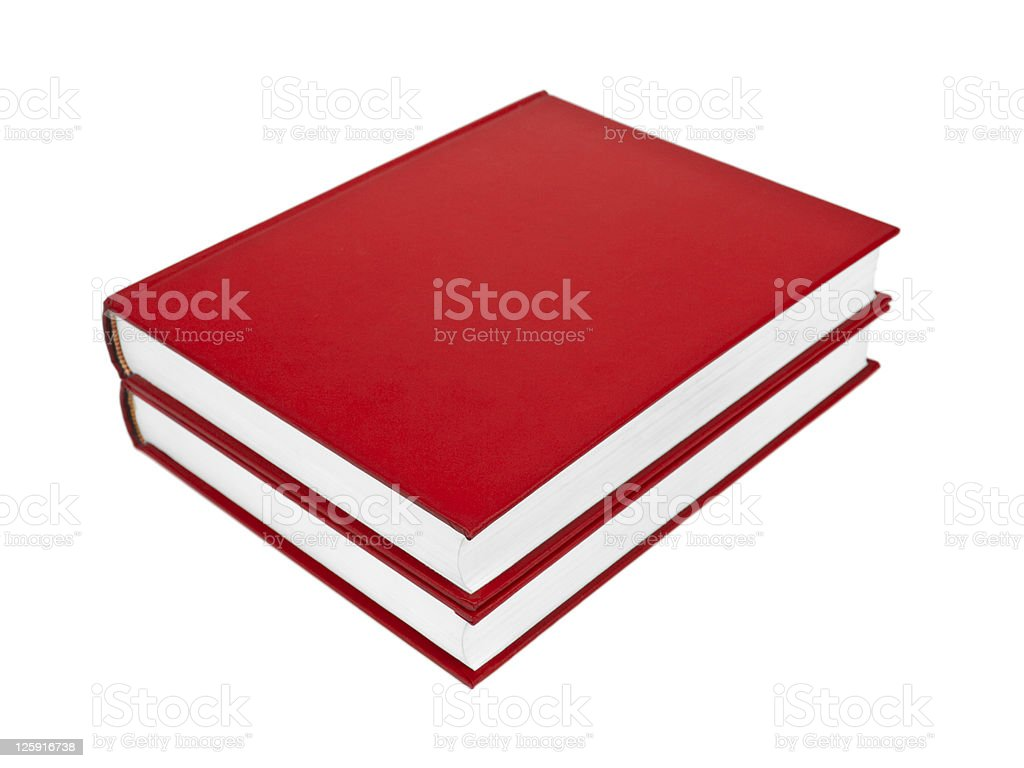 Red books stock photo