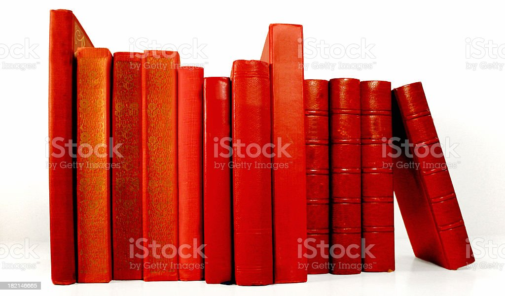 Red Books With no Lables royalty-free stock photo