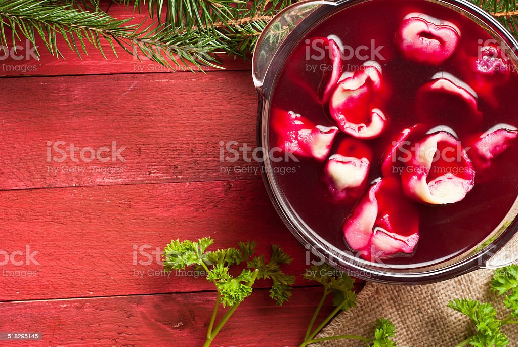 Borsch rojo foto de stock libre de derechos