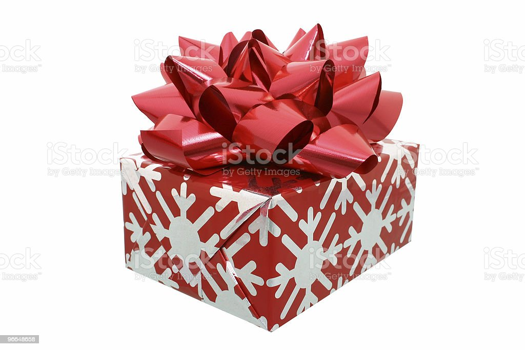 Red Bow Gift w/Clipping Path royalty-free stock photo
