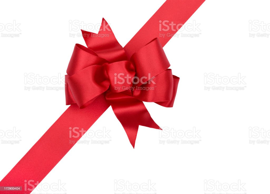 Red Bow Gift  XXL (CLIPPING PATH) stock photo