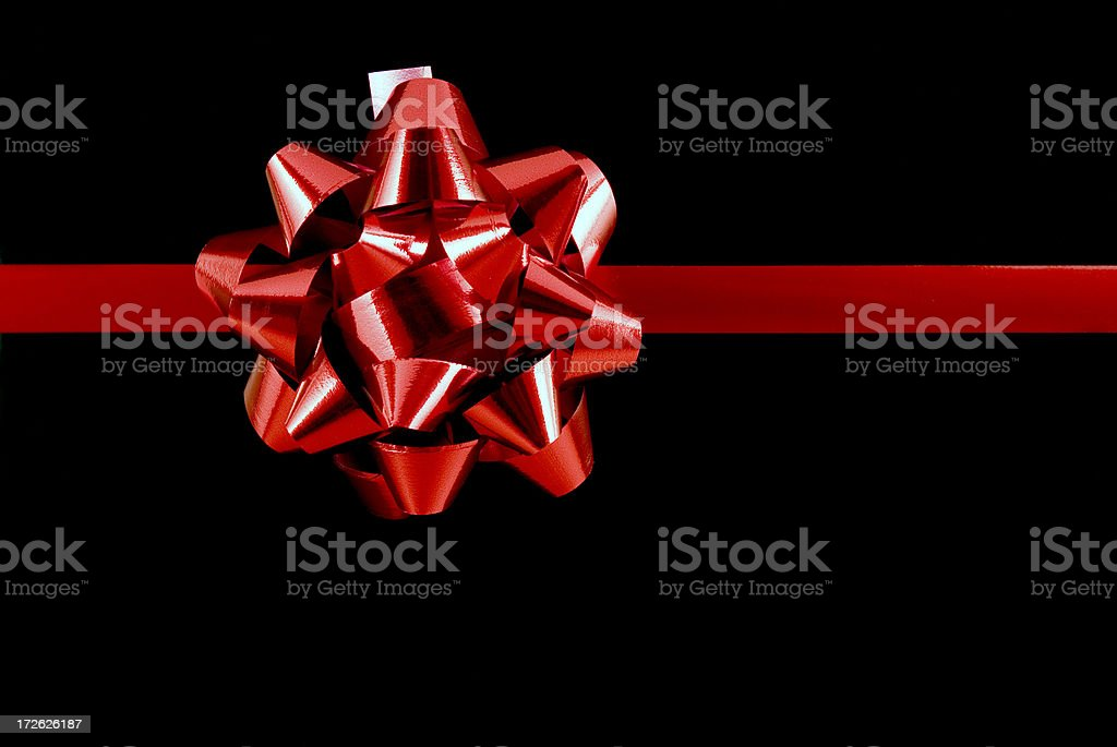 Red Bow on black royalty-free stock photo
