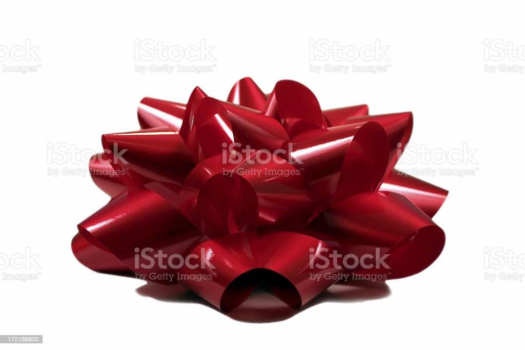 Red Bow onTop stock photo