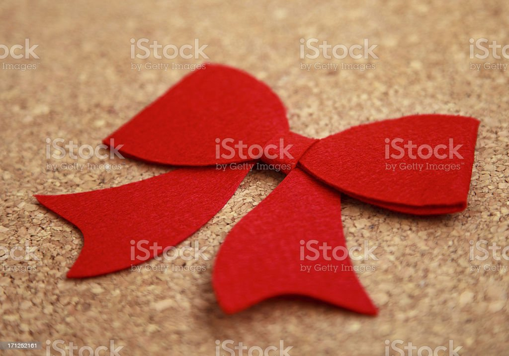 Red bow royalty-free stock photo
