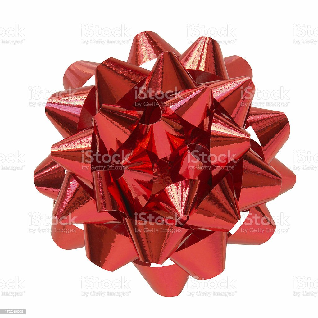 Red Bow (+ path) royalty-free stock photo