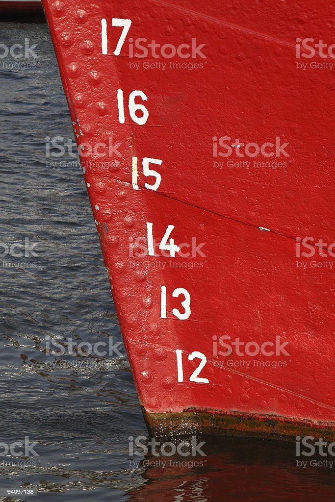 red bow with cargo brands stock photo
