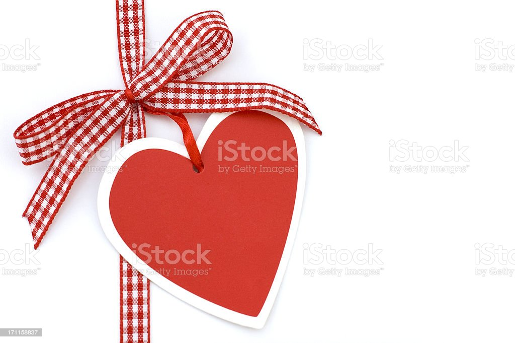 Red Bow with Heart royalty-free stock photo