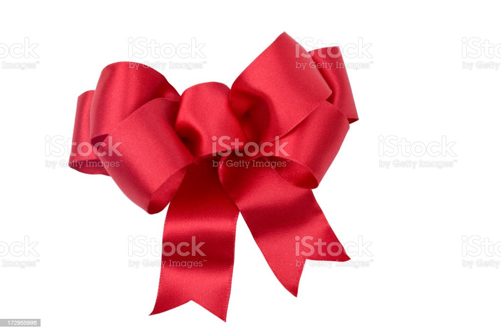 Red Bow (CLIPPING PATH) XXL stock photo