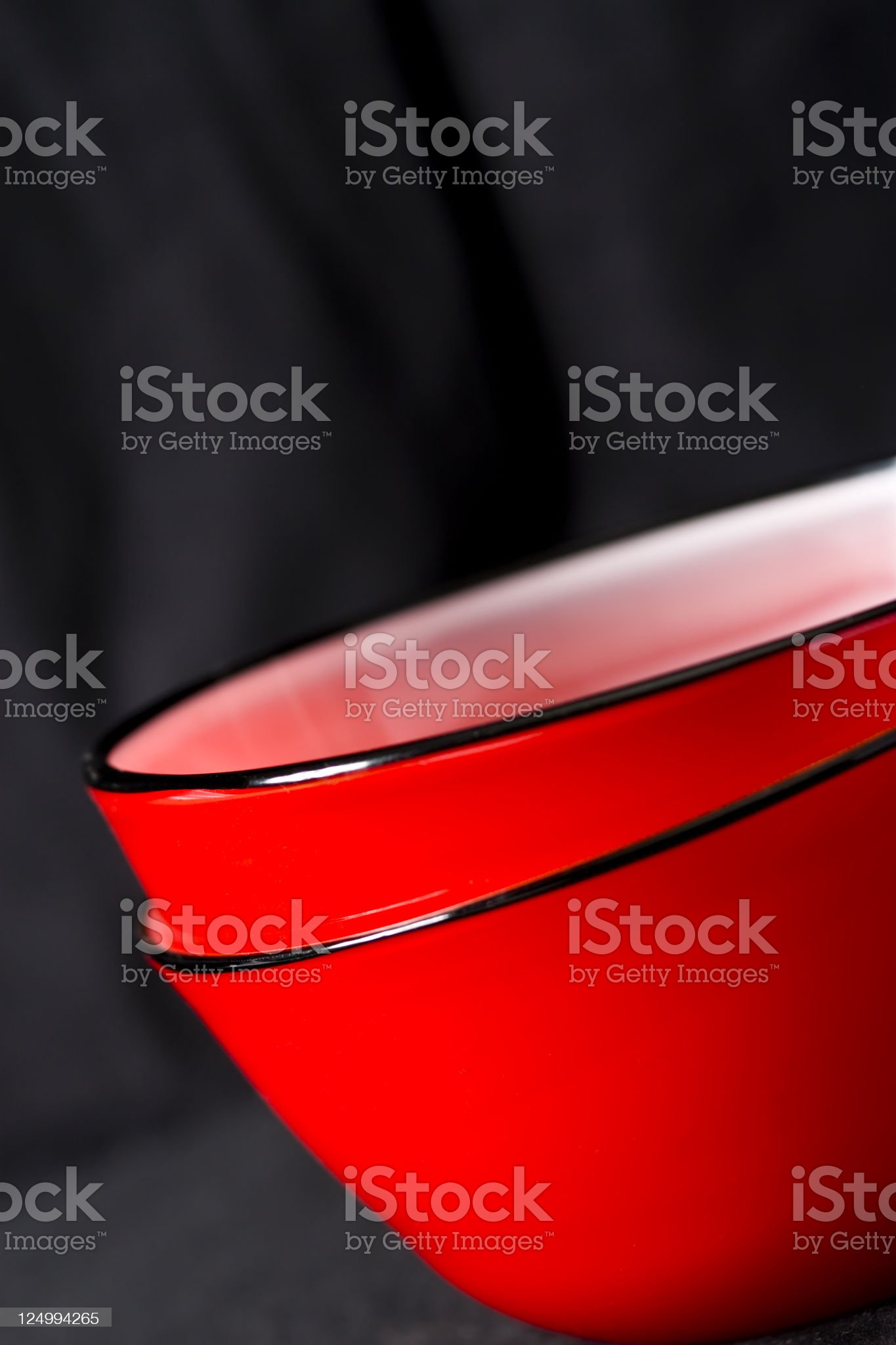Red bowls on black royalty-free stock photo