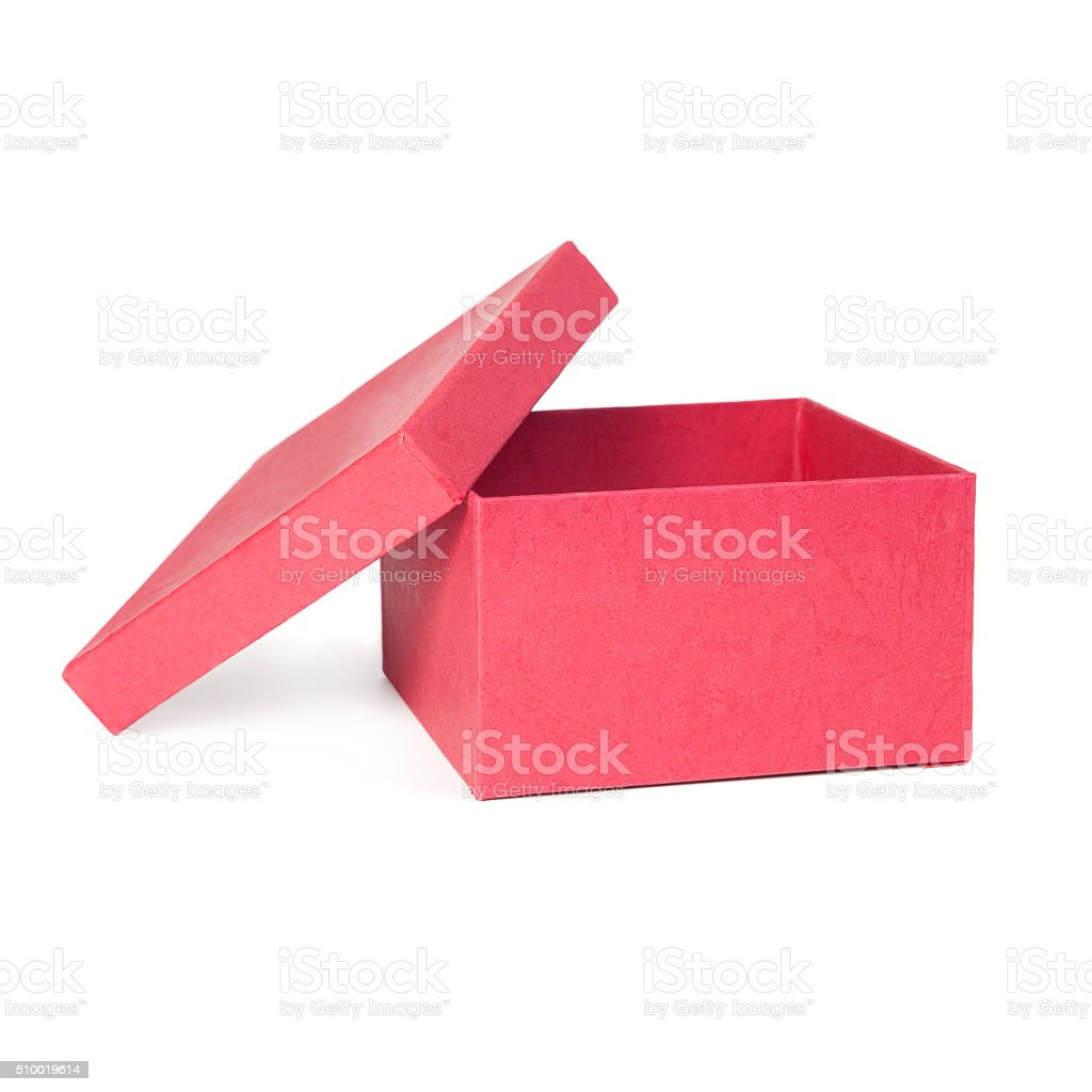 Red box stock photo