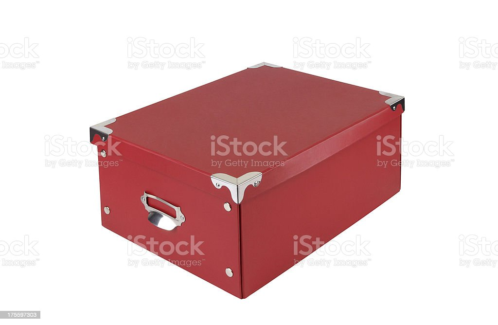 Red Box+Clipping Path royalty-free stock photo