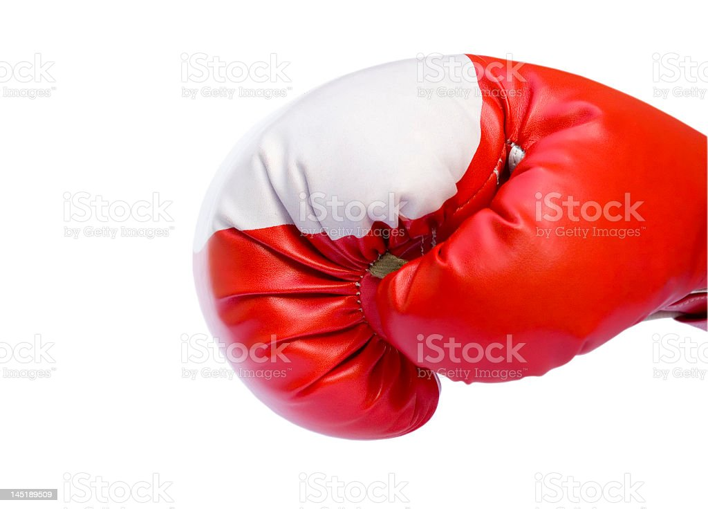 Red boxing glove stock photo