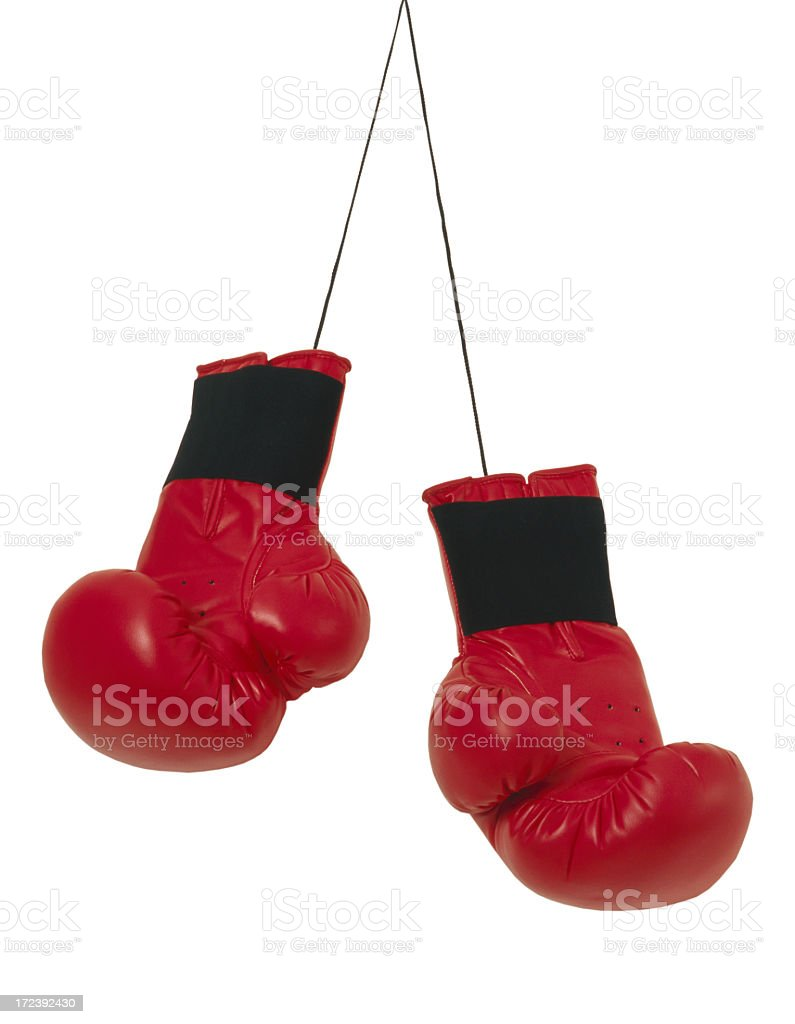 Red boxing gloves royalty-free stock photo