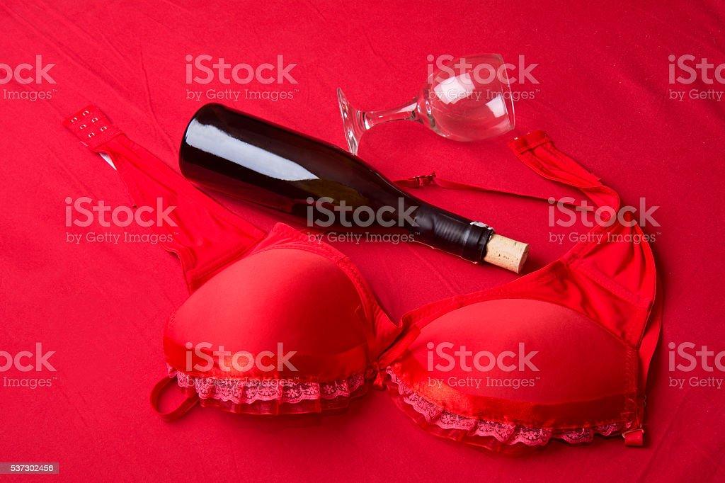 red bra stock photo