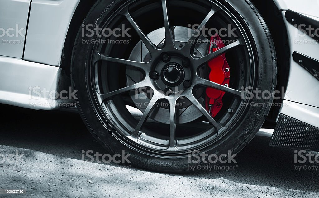 red brake stock photo
