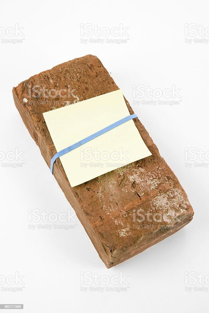 Red Brick and Threat letter stock photo