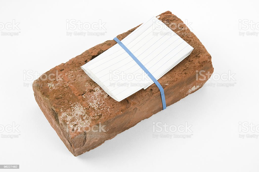 Red Brick and Threat letter royalty-free stock photo