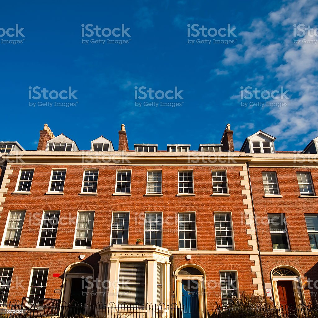 red brick apartment  in Belfast,Northern Ireland royalty-free stock photo