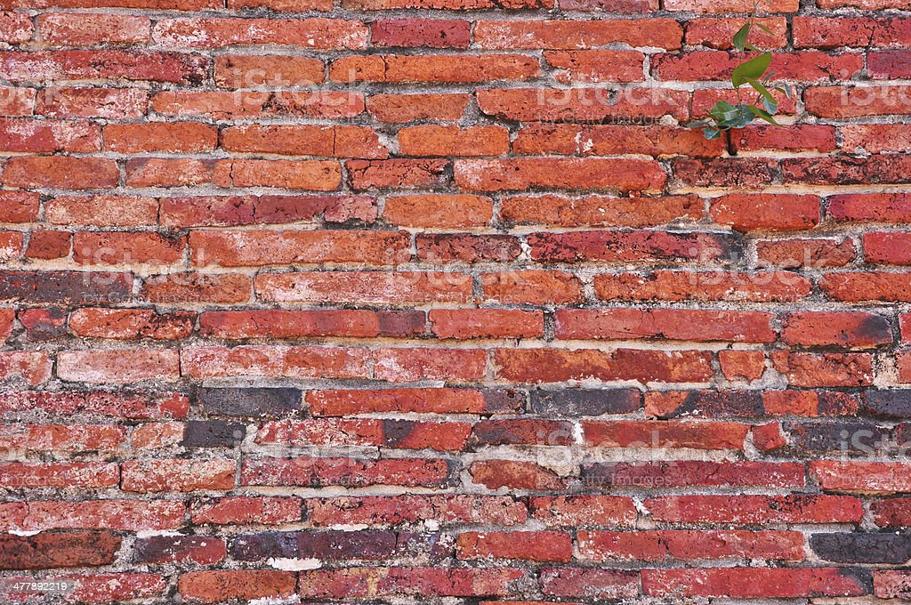 Red brick background at tample ,Thailand royalty-free stock photo