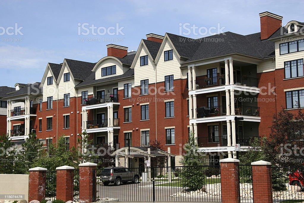 Red Brick Condos royalty-free stock photo