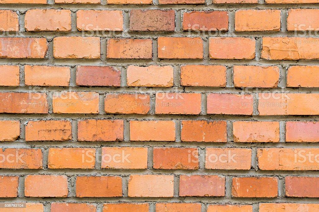 red brick facade stock photo