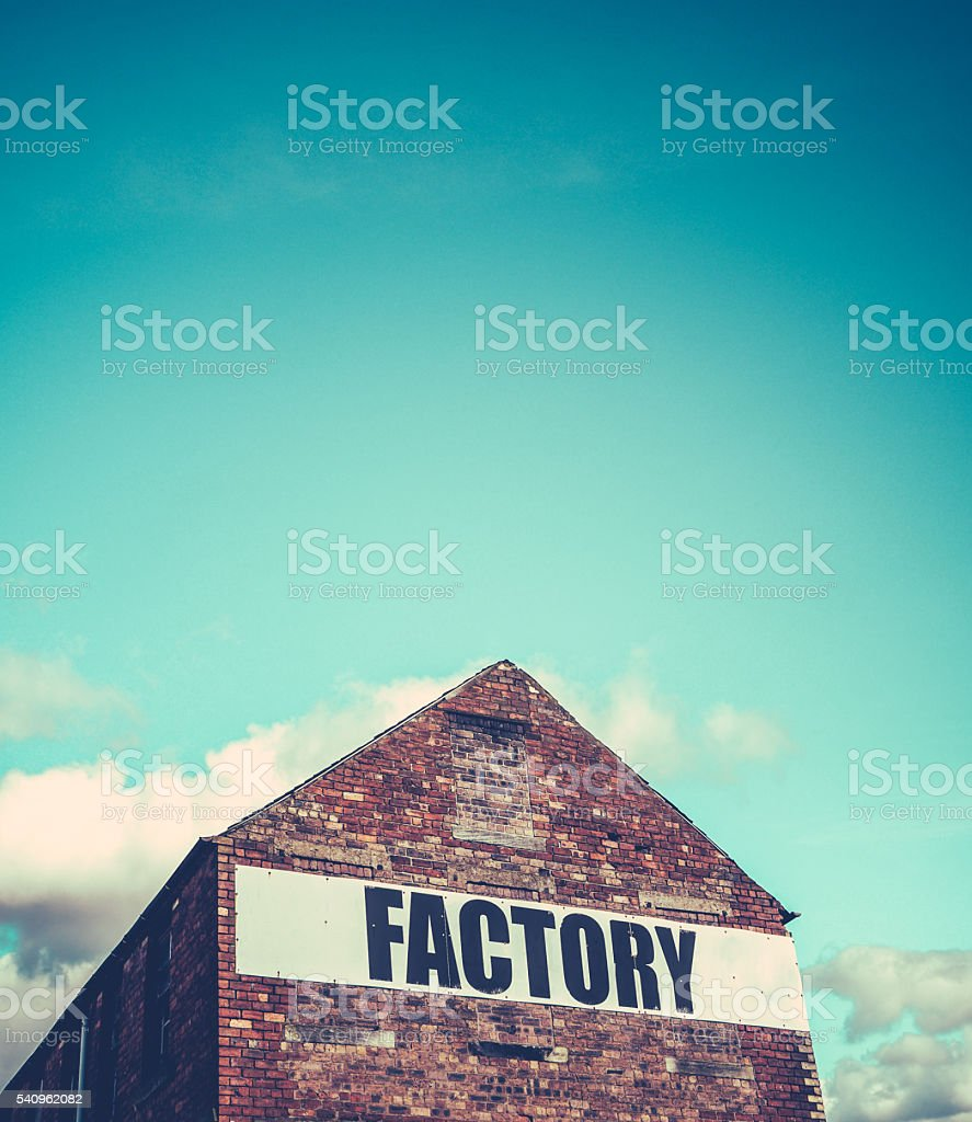 Red Brick Factory Building stock photo