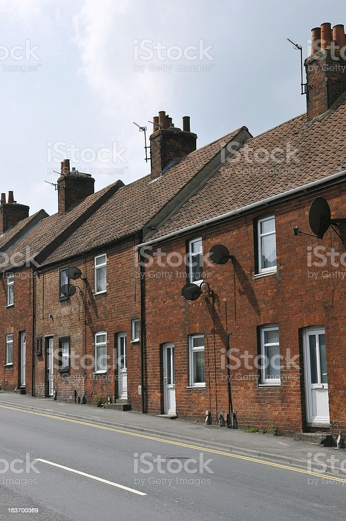 Red Brick Houses royalty-free stock photo