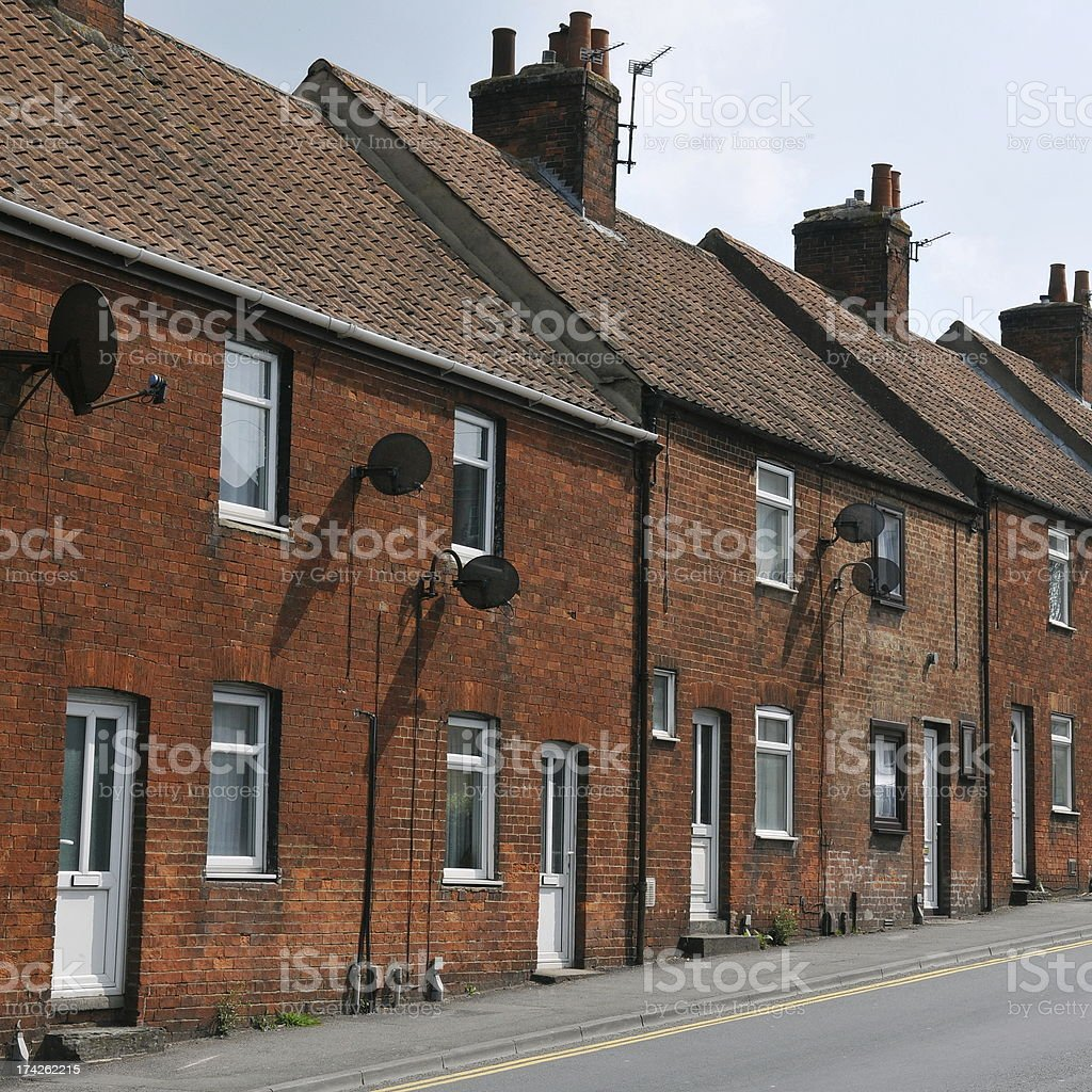 Red Brick Houses stock photo