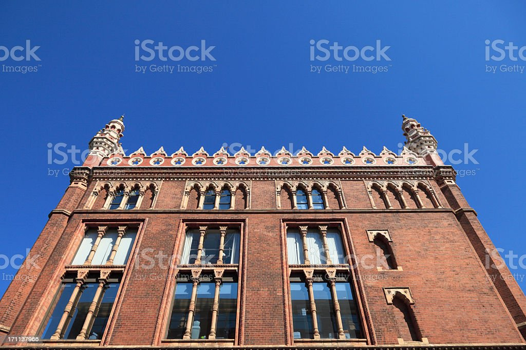 Red brick office building. royalty-free stock photo