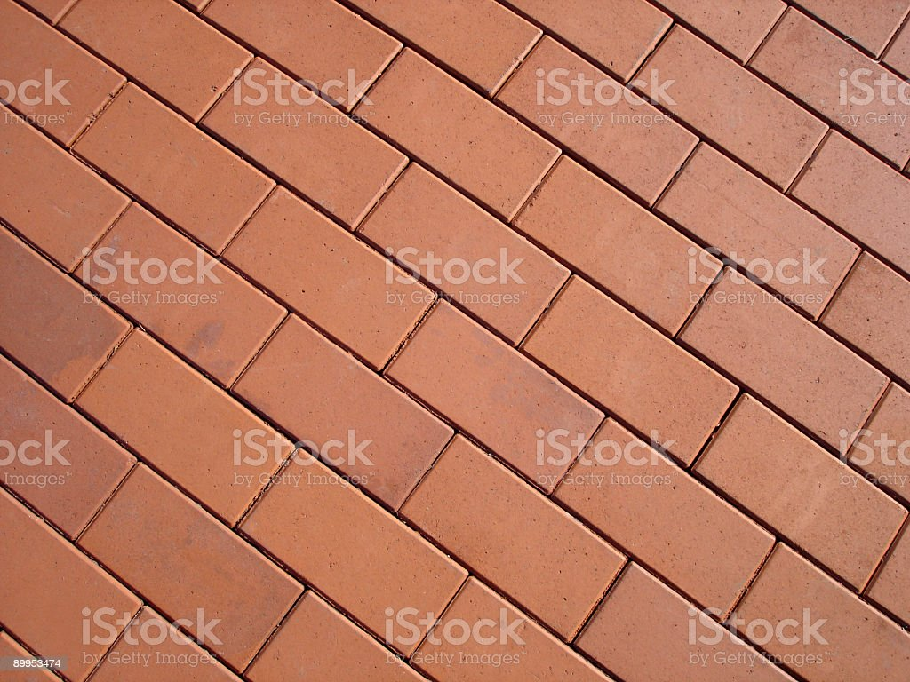 Red Brick on a Sunny Day royalty-free stock photo