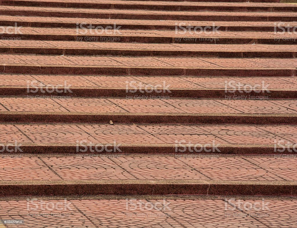 red brick stair,Light sidewalk, pavement texture,patterned pavin royalty-free stock photo