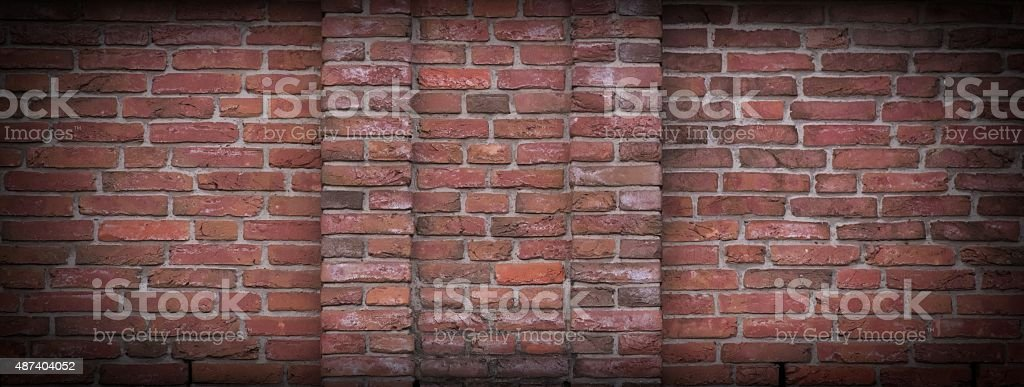 Red Brick Texture vector art illustration